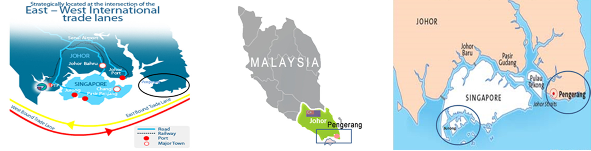 Strategic Location at the South - East tip of Peninsular Malaysia