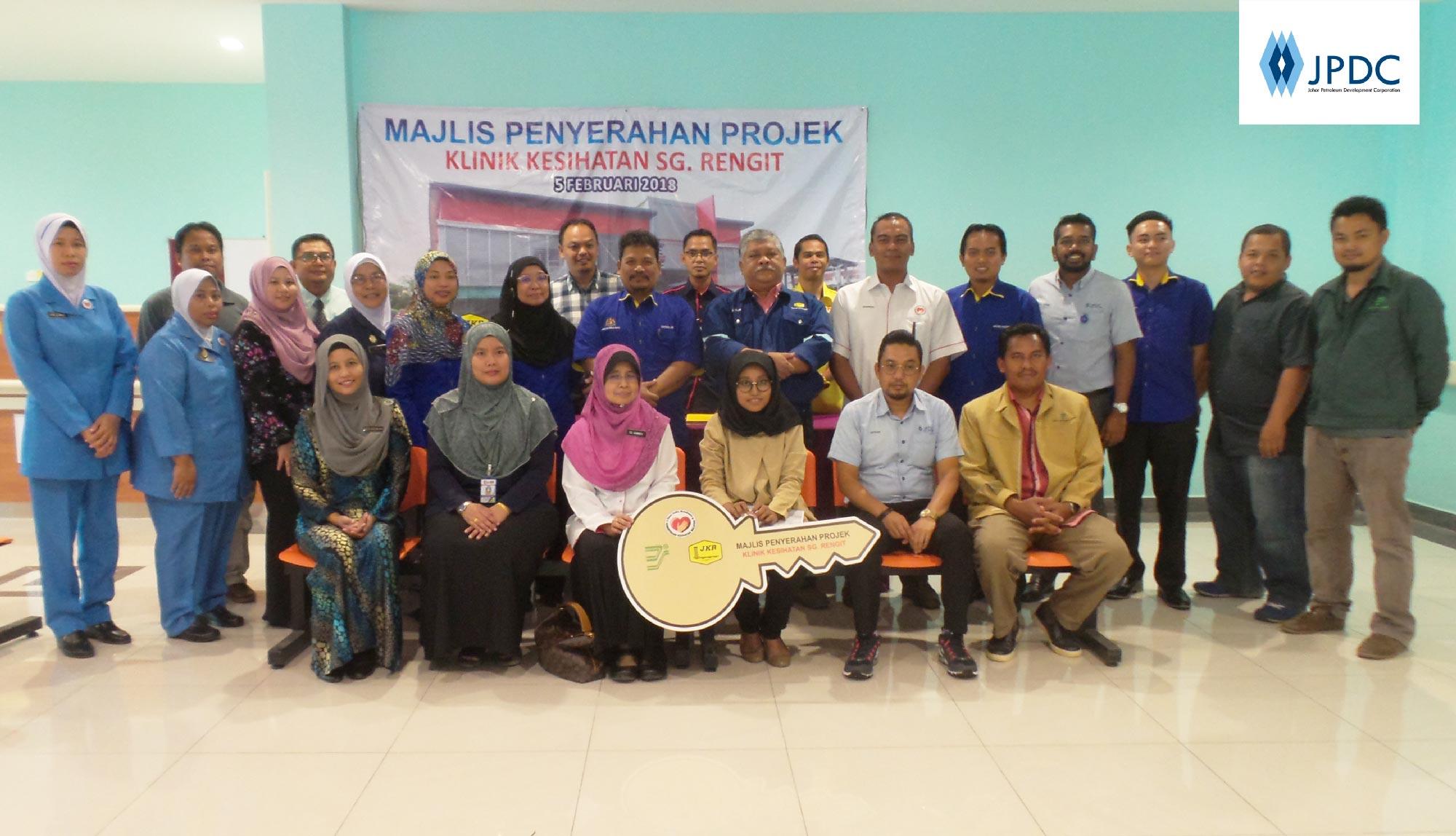 Majlis Penyerahan Projek pada 5 Februari 2018 di Klinik Kesihatan Sungai Rengit